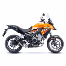 Leovince LV-10 Black Slip-on RVS Honda CB 500 X 2017 2018