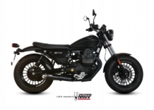 Mivv Ghibli RVS Ceramic Black Slip-on Set Moto Guzzi V9 Bobber / Roamer 2016