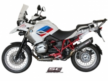 SC Project SC1 Oval Matt Carbon Slip-on BMW R1200GS 2010 2012