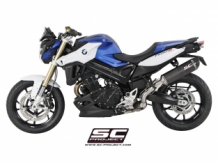 SC Project Oval Matt Carbon Slip-on Einddemper met E-keur Euro3 BMW F800R 2015 2019