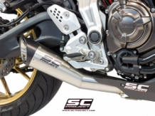 SC Project S1 RVS Compleet 2-1 Systeem Yamaha MT07 2013 2016