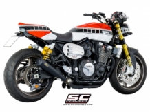 SC Project Conico '70s RVS Black Slip-on Yamaha XJR1300 / Racer 2015 2017