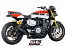 SC Project S1 RVS Black Slip-on Yamaha XJR1300 / Racer 2015 2017