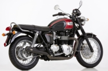 Shark 2-2 slip-on Retro RVS Black Triumph Bonneville 2007-2015