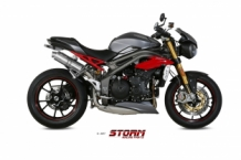 Storm by Mivv GP RVS High-up Set Triumph Speed Triple 2016-2017