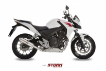 Storm by Mivv GP RVS Slip-on met E-keur Honda CB 500 F 2013 2015