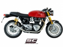 SC Project Conic RVS Slip-on Set Thruxton 1200