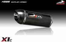 Devil Carbon X-1 Slip-on Set DUCATI MONSTER 695  06>08