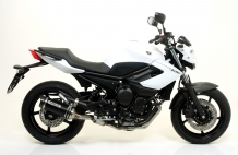Arrow Street Thunder Aluminium Black Carby Endcap met E-keur incl. RVS Racing Voorbochten Yamaha XJ6 / Diversion 2009 2015