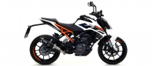 Arrow Thunder Aluminium Black met E-keur KTM Duke 125 2017 2018