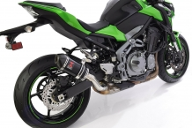Black Widow Oval Carbon 200mm Einddemper zonder E-keur incl. 4-1 Linkpipe Kawasaki Z900 2017 2018