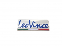 Leovince Heatproof Metal Sticker 85 x 33 mm