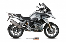 "Mivv Speed Edge ""Special GS Titanium Edition"" Slip-on Einddemper met E-keur BMW R1200GS 2013 2017"