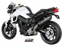 SC Project Oval Carbon einddemper met E-keur incl. Carbon Heatshield BMW F800R 2009 2014