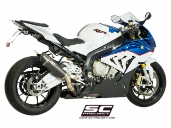 SC Project Conical Carbon Einddemper met E-keur BMW S1000RR 2015 2016