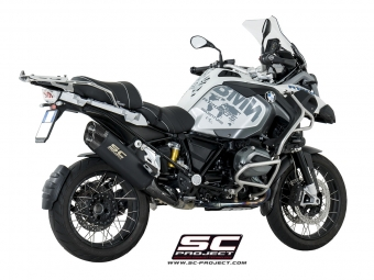 SC Project Adventure Titanium Black Slip-on Einddemper met E-Keuring BMW R1200GS 2013 2016