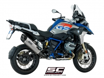 SC Project Adventure Titanium Slip-on Einddemper met E-Keur BMW R1200GS 2013 2016