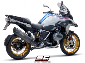 SC Project Adventure Titanium Matt Grey Slip-on Einddemper met Euro4 Keuring BMW R1250GS 2019