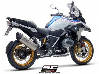 SC Project Adventure Titanium Slip-on Einddemper met EURO4 Keuring BMW R1250GS 2019 2020