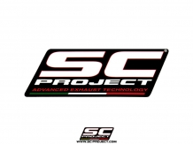 SC Project Heatproof Uitlaatsticker 129x48mm