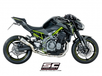 SC Project Titanium High Performance Voorbochten Kawasaki Z900 A2 model 2017 2020