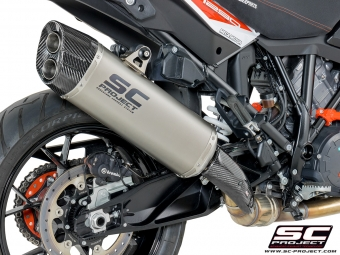 SC Project Adventure Titanium Slip-on Einddemper met E-keur KTM 1290 Super Adventure 2017 2020